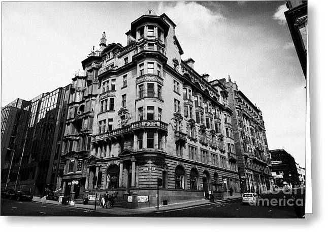 Listed Building Greeting Cards - Former Royal Bank Listed Building 140 142 St Vincent Street And 153 155 Hope Street Glasgow Scotland Greeting Card by Joe Fox