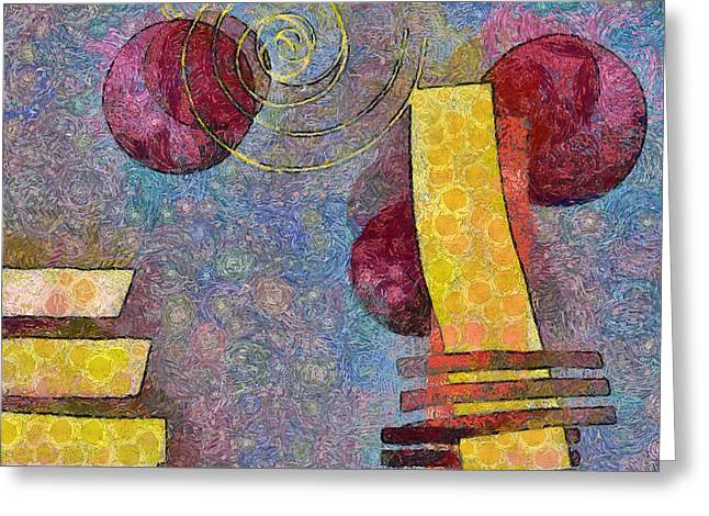 Pink Digital Greeting Cards - Formes - 08a Greeting Card by Variance Collections