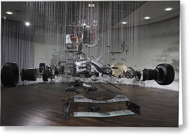 Component Greeting Cards - Formula One in Pieces Greeting Card by Nigel Jones