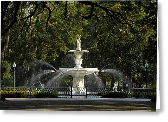 Forsyth Fountain 1858 Greeting Card by David Lee Thompson