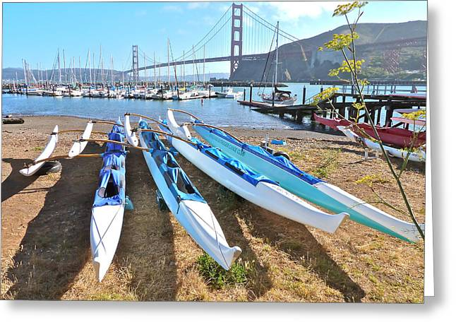 Recently Sold -  - Bay Bridge Greeting Cards - Fort Baker California Greeting Card by K L Kingston