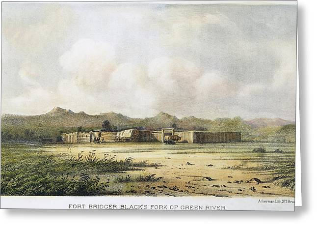 Destiny Greeting Cards - Fort Bridger, Wyoming, 1852 Greeting Card by Granger