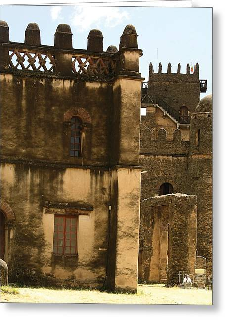Myspace Greeting Cards - Fort Gondar Ethiopia Greeting Card by Cherie Richardson