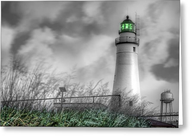 Renaissance Center Greeting Cards - Fort Gratiot Lighthouse Greeting Card by Nicholas  Grunas