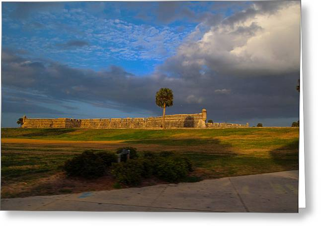 Old San Juan Wall Prints Greeting Cards - Fort in St. Augustine II Greeting Card by Christine Cousart