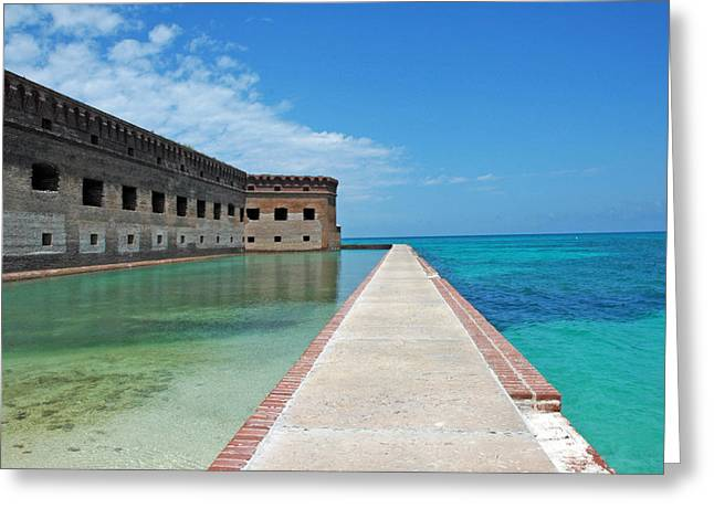 Fort Jefferson Greeting Cards - Fort Jefferson Dry Tortugas Greeting Card by Susanne Van Hulst