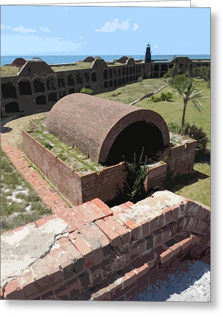 Dry Tortugas Greeting Cards - Fort Jefferson I Greeting Card by Andy Jeter