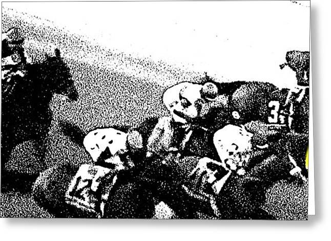 Larned Greeting Cards - Fort Larned Pulls Ahead Greeting Card by George Pedro