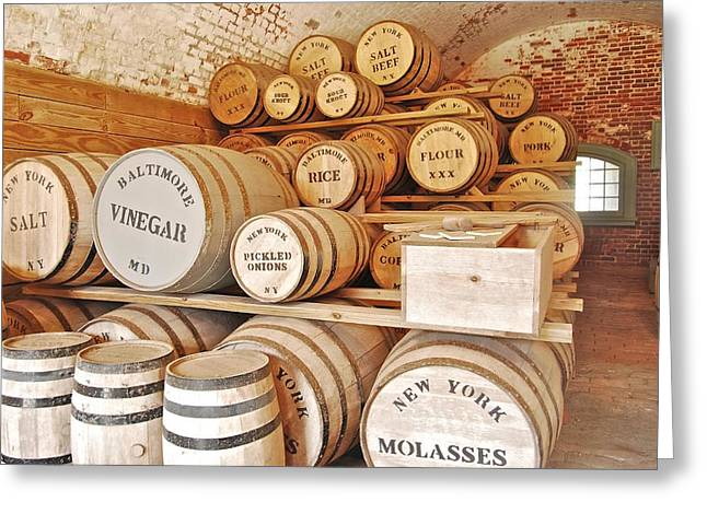 Fort Macon food supplies_9070_3759 Greeting Card by Michael Peychich