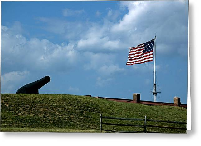Star-spangled Banner Greeting Cards - Fort McHenry Baltimore Maryland Greeting Card by Wayne Higgs