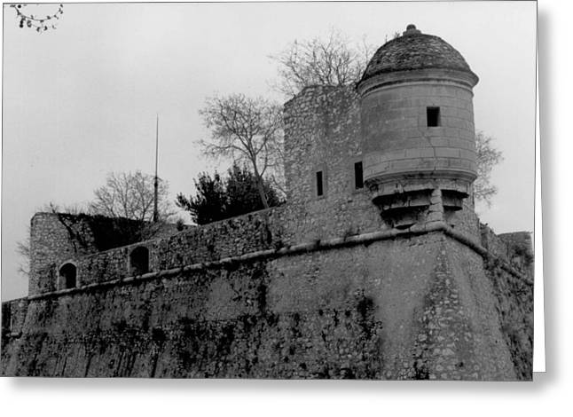 Villefranche Greeting Cards - Fort Mont Alban Greeting Card by Christopher Kirby