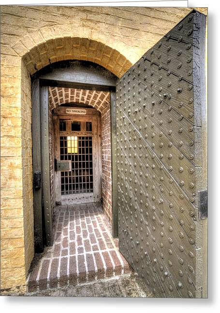 Charleston Greeting Cards - Fort Moultrie Magazine Door Greeting Card by Dustin K Ryan
