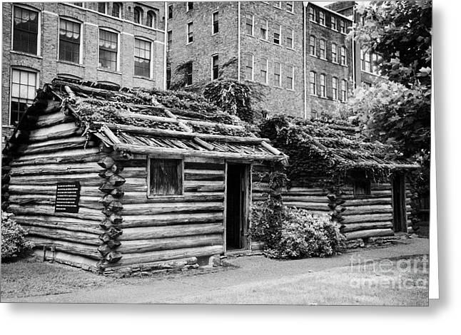 fort nashborough stockade recreation Nashville Tennessee USA Greeting Card by Joe Fox