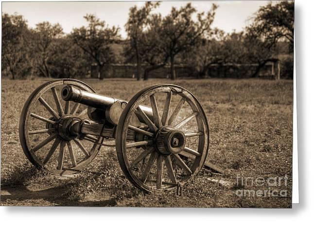 Fort Phantom Hill Cannon Greeting Card by Fred Lassmann