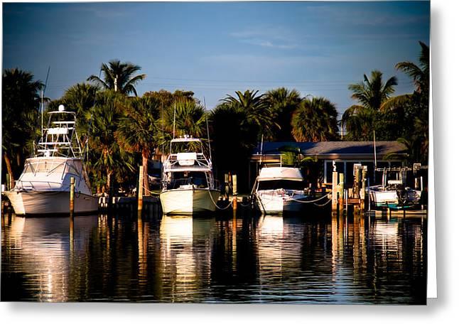 Bay Greeting Cards - Fort Pierce Marina Greeting Card by Trish Tritz