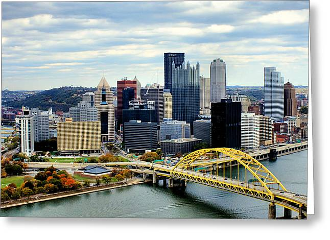 Phipps Conservatory Greeting Cards - Fort Pitt Bridge Greeting Card by Michelle Joseph-Long