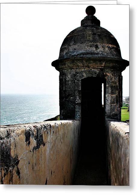 Outlook Greeting Cards - The Garitas of Old San Juan  Greeting Card by Gilbert Artiaga