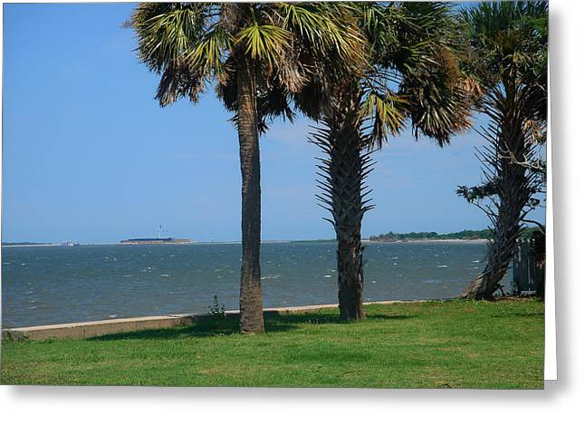 Charleston Greeting Cards - Fort Sumter Charleston SC Greeting Card by Susanne Van Hulst
