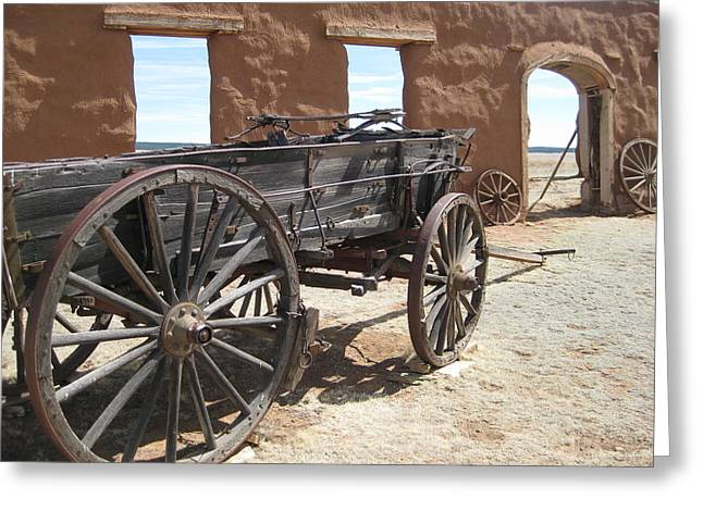Sante Fe Trail Greeting Cards - Fort Union Wagon Greeting Card by Sean Johnson