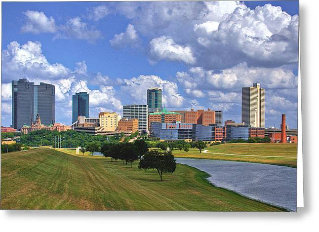 Fort Worth Texas Greeting Cards - Fort Worth #1 Greeting Card by David and Carol Kelly