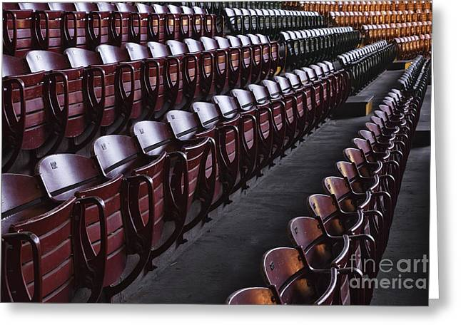 Stockyards Greeting Cards - Fort Worth Stockyards Coliseum Seating Greeting Card by Jeremy Woodhouse