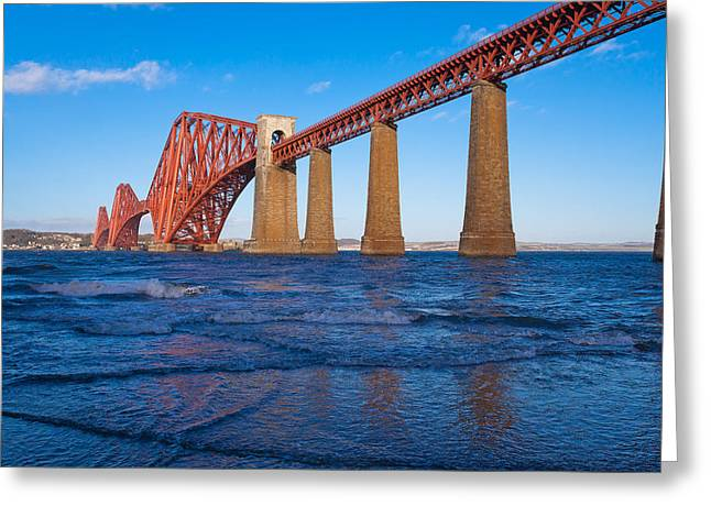 Mid Span Greeting Cards - Forth Rail Bridge Greeting Card by Gary Finnigan