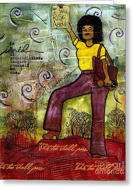 Survivor Art Greeting Cards - Fortitude Greeting Card by Angela L Walker