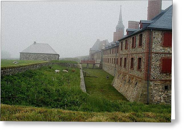 Historic Bridge Photographs Digital Greeting Cards - Fortress of Louisbourg Greeting Card by Dmytro Toptygin