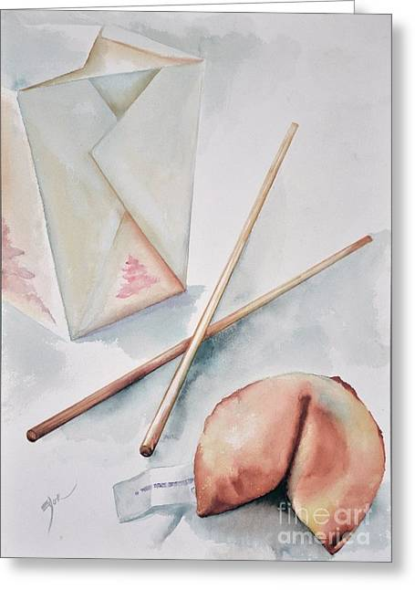 Fortune Cookie Greeting Card by Elizabeth York