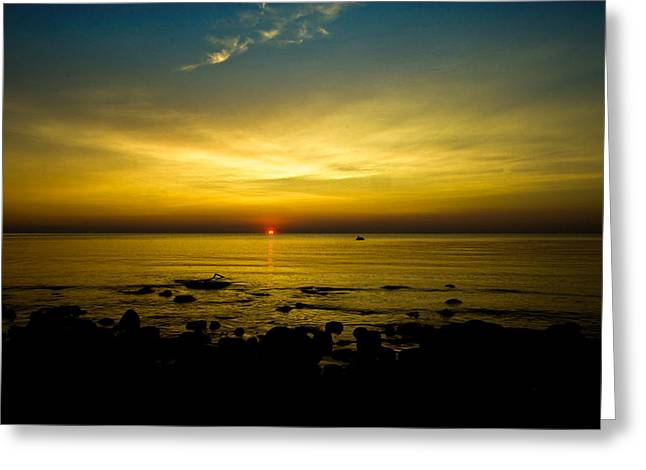 Sunset Prints Greeting Cards - Fortune Greeting Card by Jason Naudi Photography