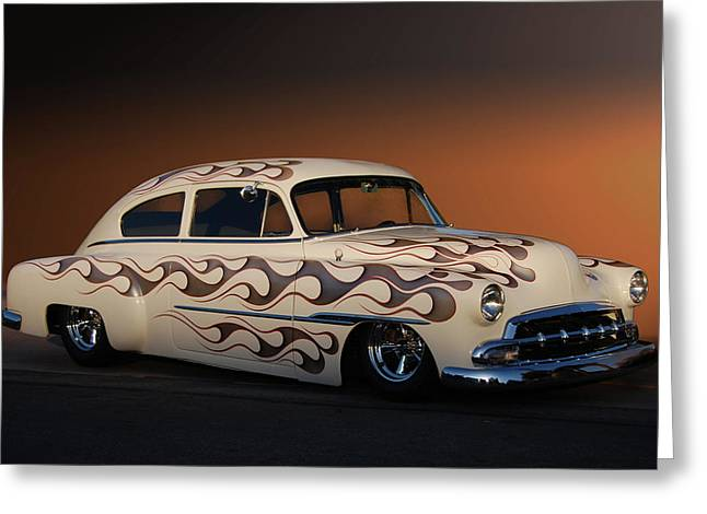 49 Chevy Greeting Cards - Forty-nine Fastback Greeting Card by Bill Dutting