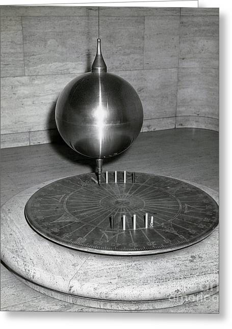 Rotation Greeting Cards - Foucaults Pendulum Greeting Card by Omikron