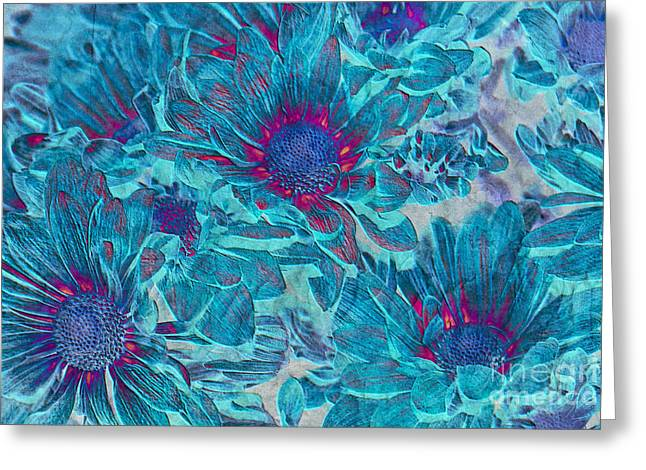 Daisy Digital Art Greeting Cards - Foulee de petales - a01t Greeting Card by Variance Collections
