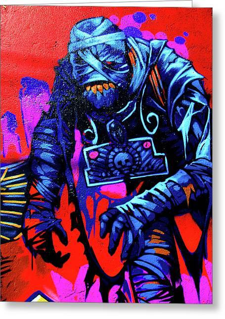 Fun Digital Art Greeting Cards - Found Graffiti 25 Mummy Greeting Card by Jera Sky