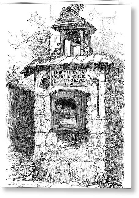 La Science Illustree Greeting Cards - Foundling Tower, 19th Century Greeting Card by