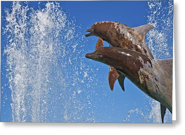 Bayfront Greeting Cards - Fountain  Greeting Card by Betsy C  Knapp