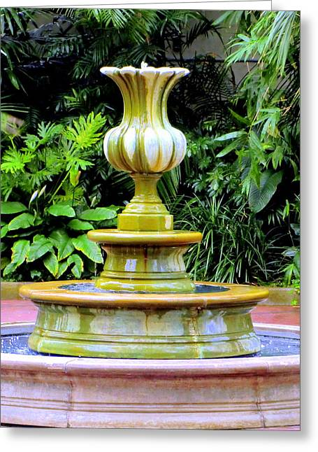Fountain Digital Art Greeting Cards - Fountain Greeting Card by Mindy Newman
