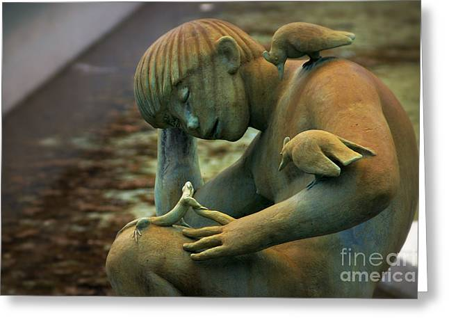 Eternal Life Greeting Cards - Fountain of Faith Nature Boy Two Greeting Card by Susan Isakson