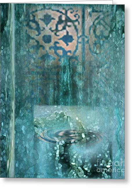 Metaphysics Greeting Cards - Fountain of Life Greeting Card by Brigetta  Margarietta