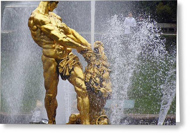Garden Statuary Greeting Cards - Fountain of Youth Greeting Card by Louise Peardon