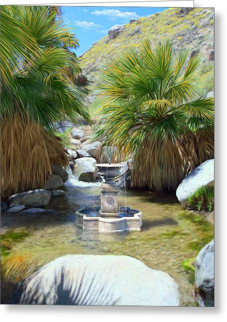 Stream Greeting Cards - Fountain of Youth Greeting Card by Snake Jagger
