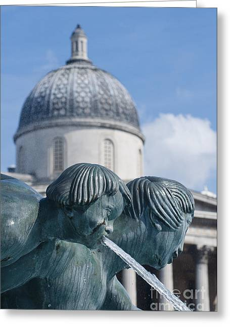 London Greeting Cards - Fountains Greeting Card by Andrew  Michael