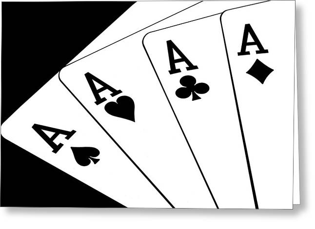 Cards Greeting Cards - Four Aces I Greeting Card by Tom Mc Nemar