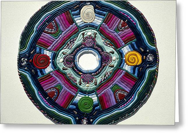 Stone Reliefs Greeting Cards - Four Directions Greeting Card by Arla Patch