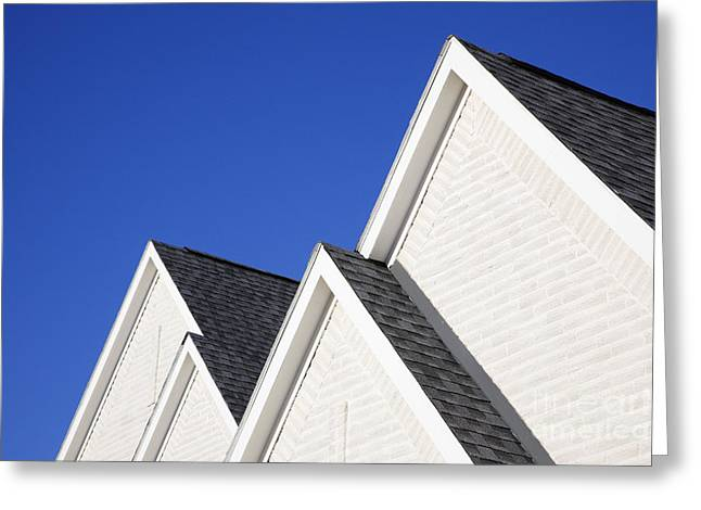 Gabled Greeting Cards - Four Gabled Rooflines Greeting Card by Jeremy Woodhouse