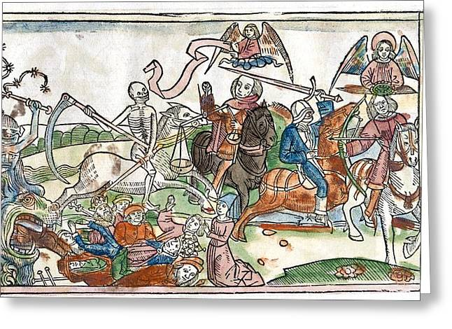 End Of War Greeting Cards - Four Horsemen Of The Apocalypse, 1522 Greeting Card by King