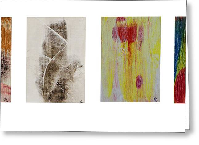 Xoanxo Cespon Greeting Cards - Four Seasons in Abstract Greeting Card by Xoanxo Cespon