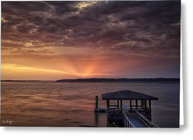 Beaufort County Greeting Cards - Four Seconds of Sunset Greeting Card by Phill  Doherty