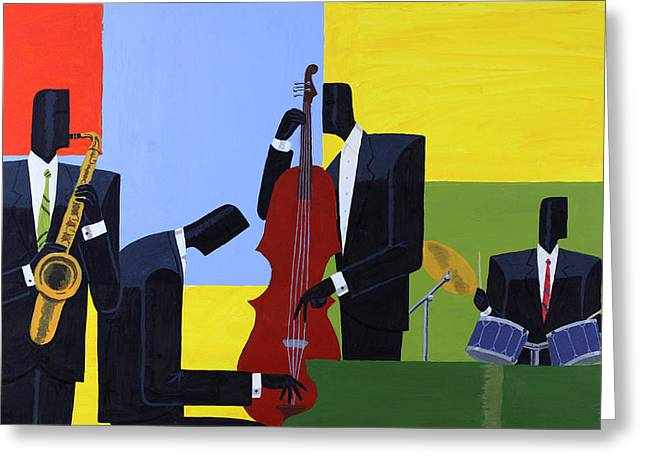Quartet Paintings Greeting Cards - Four Square Greeting Card by Darryl Daniels