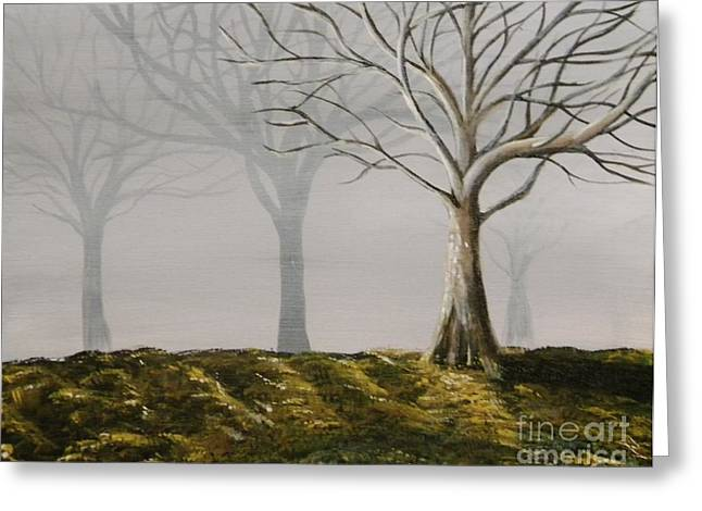 Four Trees Greeting Card by Steven Dopka